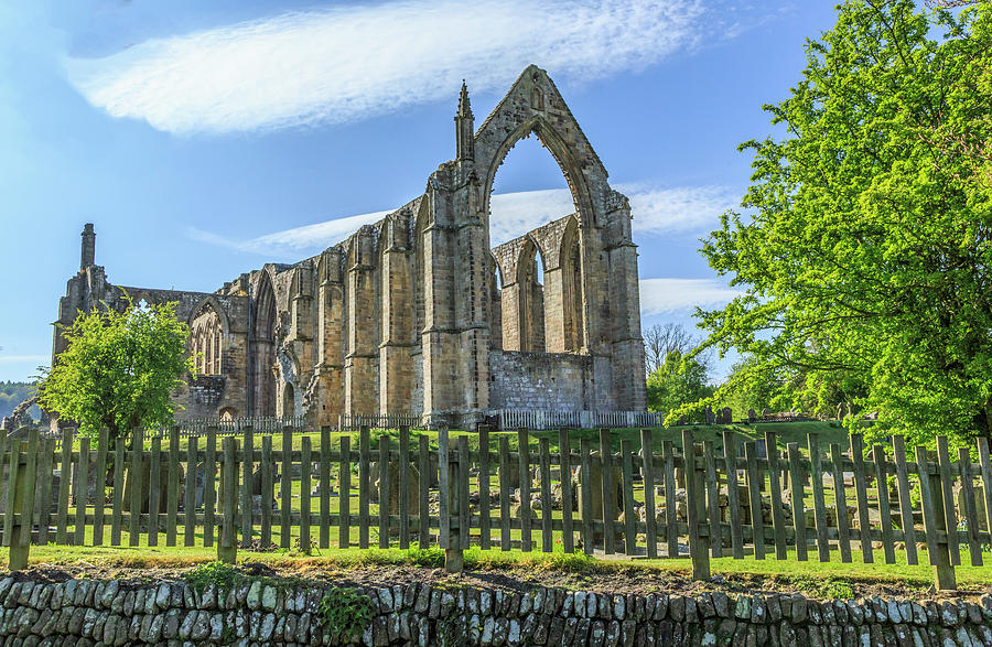 Abbey Photograph - England, North Yorkshire, Wharfedale by Emily Wilson