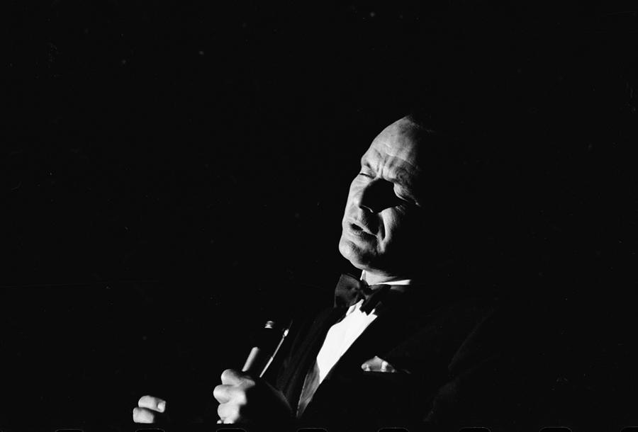 Entertainer Frank Sinatra Singing 1 Photograph by John Dominis