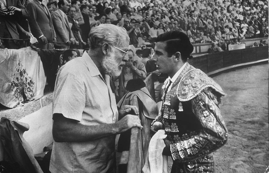 Ernest Hemingwayantonio Ordonez Photograph by Loomis Dean
