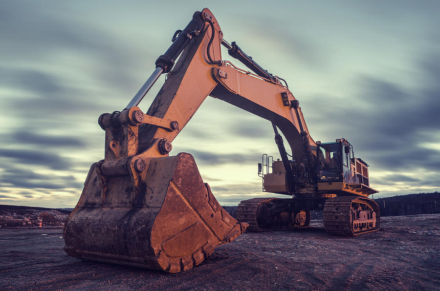 Excavator Photograph by Shaunl