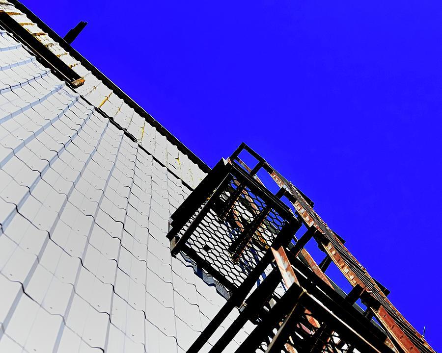 Exterior Ladder On Elevator Photograph