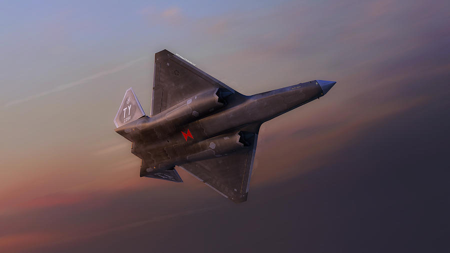F-22 Digital Art - F-23a Black Widow II by Hangar B Productions