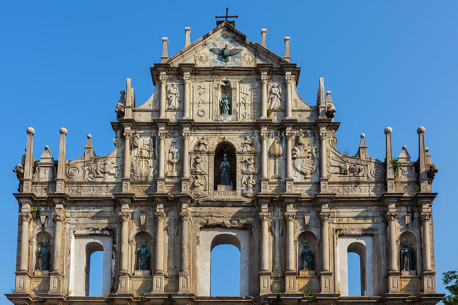 Facade Of St. Pauls Cathedrail, Macau Photograph by Stuart Dee