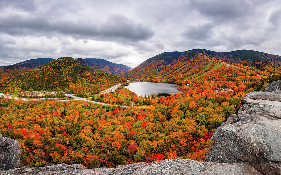Fall in Franconia Notch by Robert Clifford