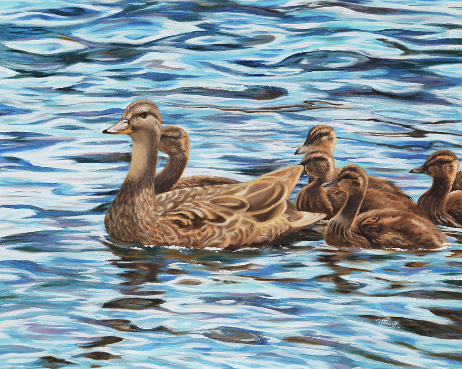Mallards Painting by Tammy Taylor