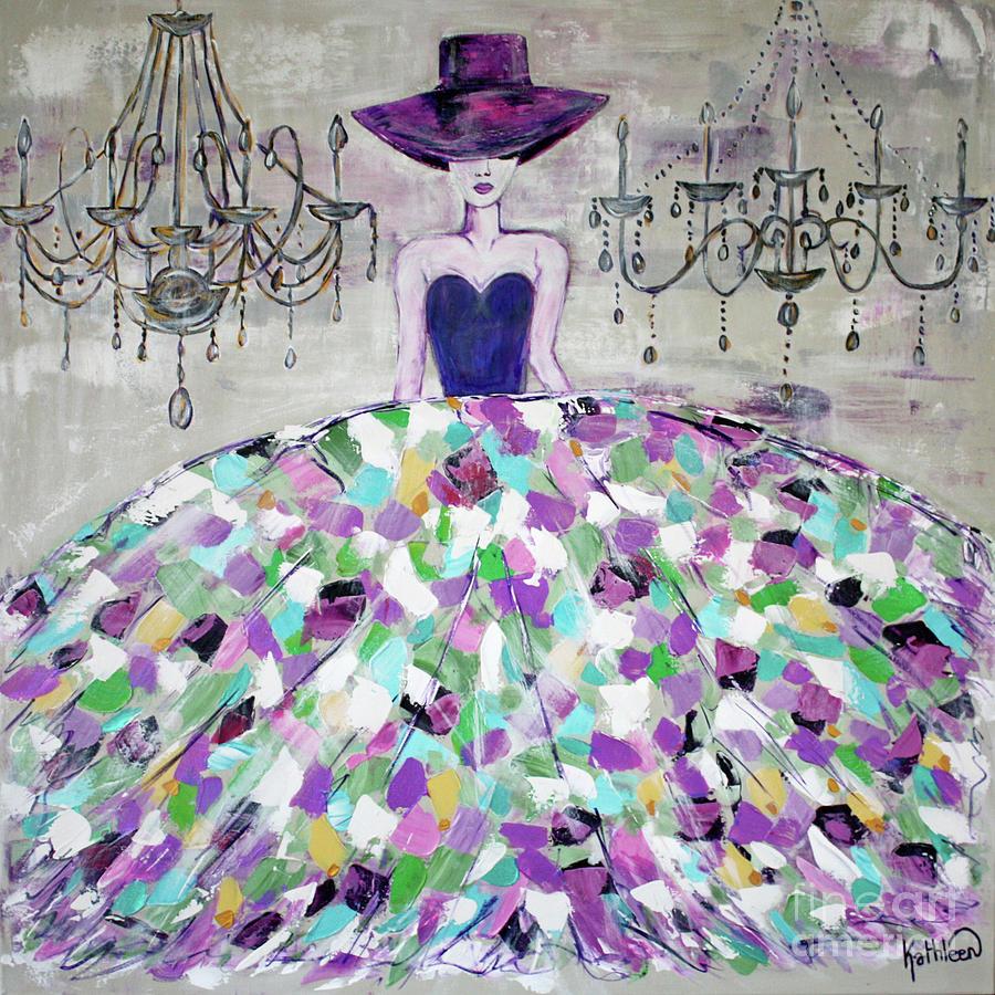 Fashion Modern Woman Painting