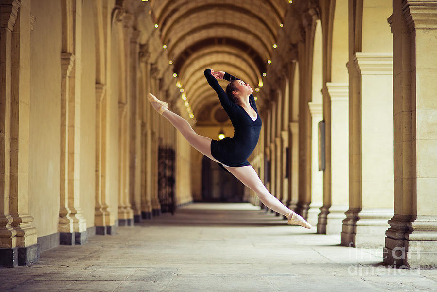 Female Ballet Dancer Dancing In Lyon Photograph by Yanis Ourabah