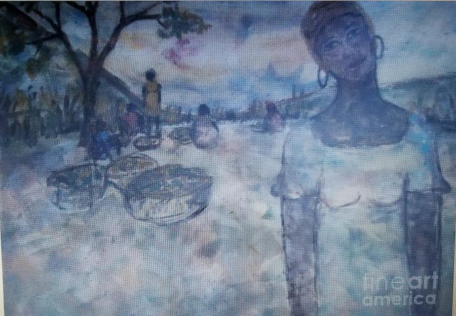 Ayiiboo Femme Au Panier Painting
