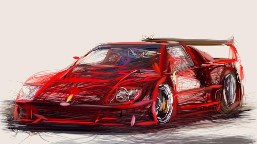 Ferrari F40 Lm Draw by CarsToon Concept