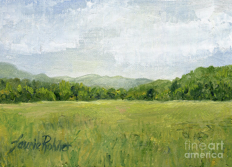 Fields Meet Mountains by Laurie Rohner