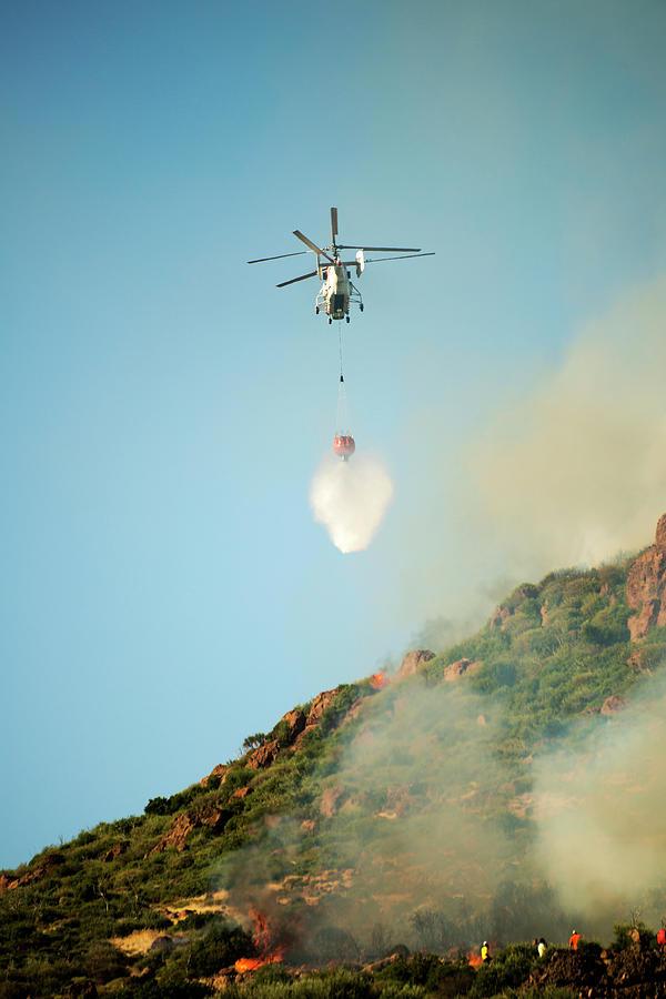Fire Fighting Helicopter Ka-32t Photograph by Omersukrugoksu