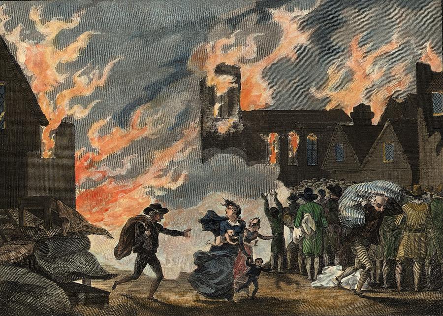 Fire Of London Digital Art by Hulton Archive