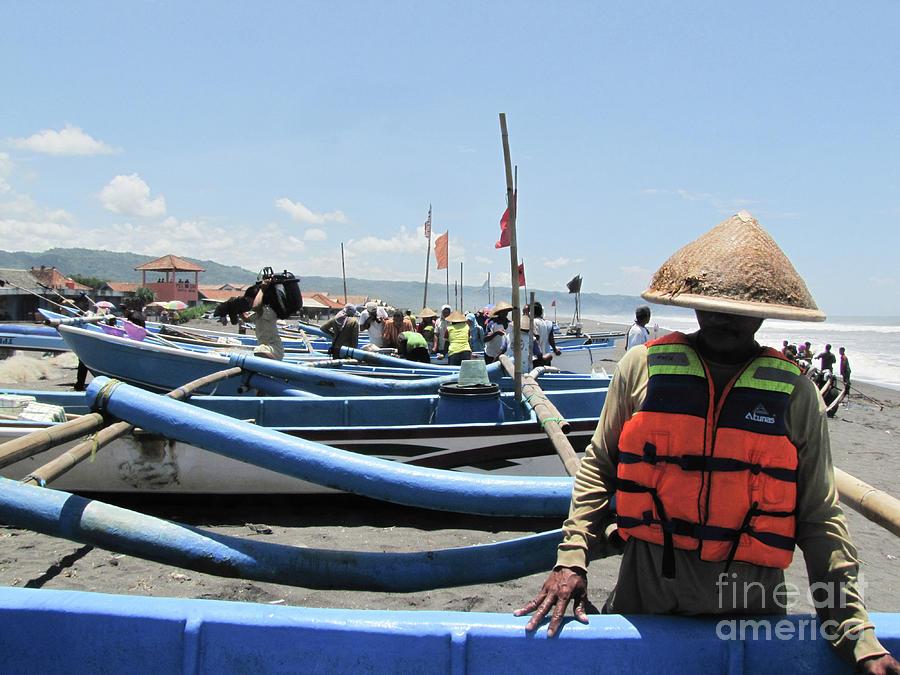 Fisherman In Yogyakarta, Indonesia by Yermia Riezky Santiago