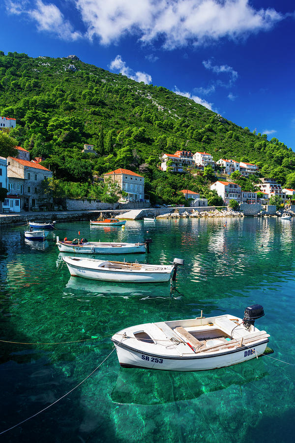 Adriatic Photograph - Fishing Boats And Blue Waters by Russ Bishop