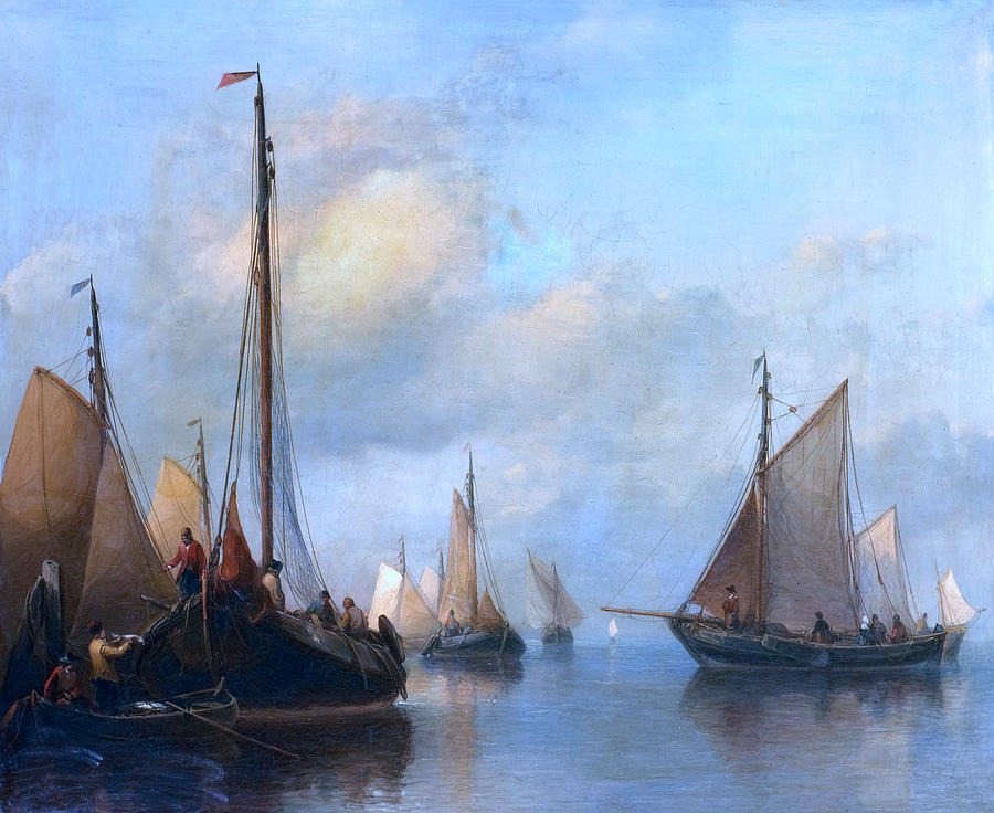 Fishing Boats on Calm Water by Anthonie Waldorp