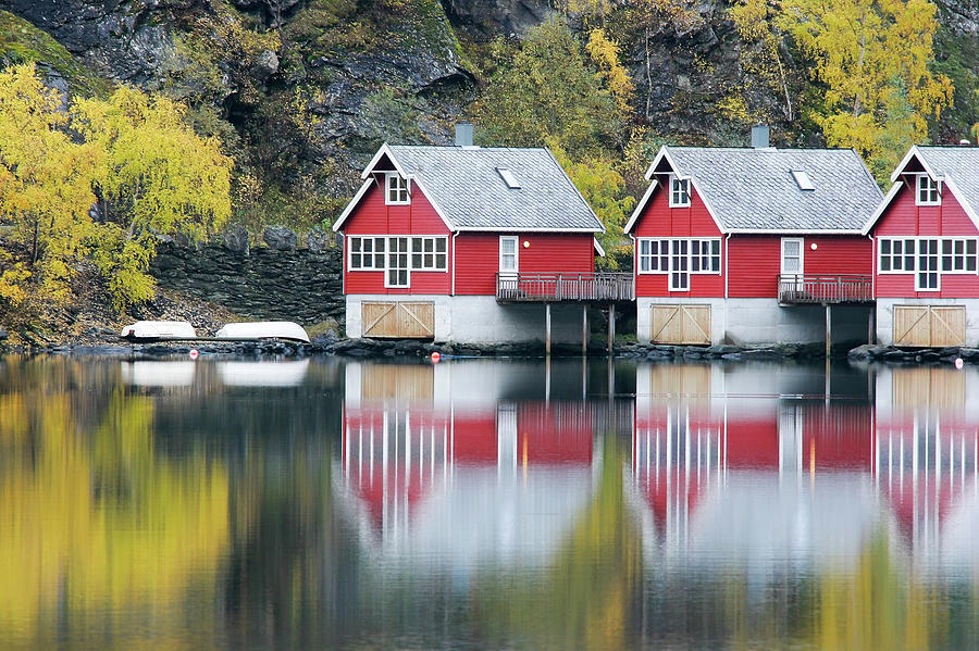 Fishing Huts Photograph by Alexandrumagurean