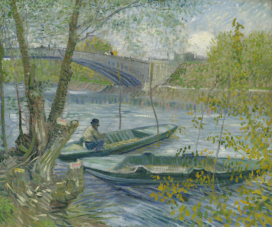 Dutch Painters Painting - Fishing In Spring, The Pont De Clichy  by Vincent van Gogh