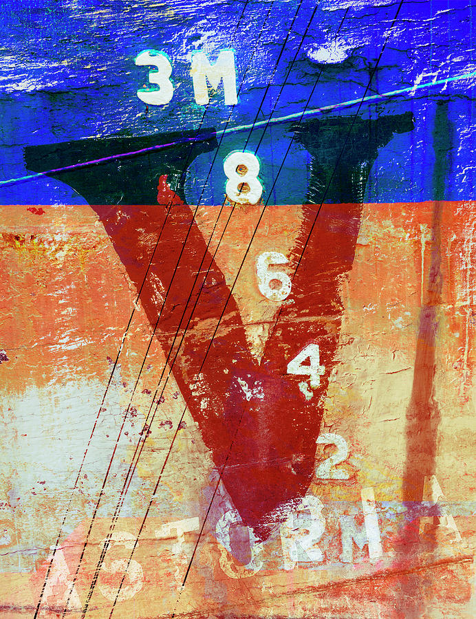 Letter Mixed Media - Fishing Vessel Vivian Astoria Oregon by Carol Leigh