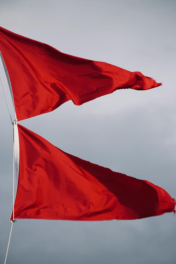 Red Photograph - Flags by Gillis Cone