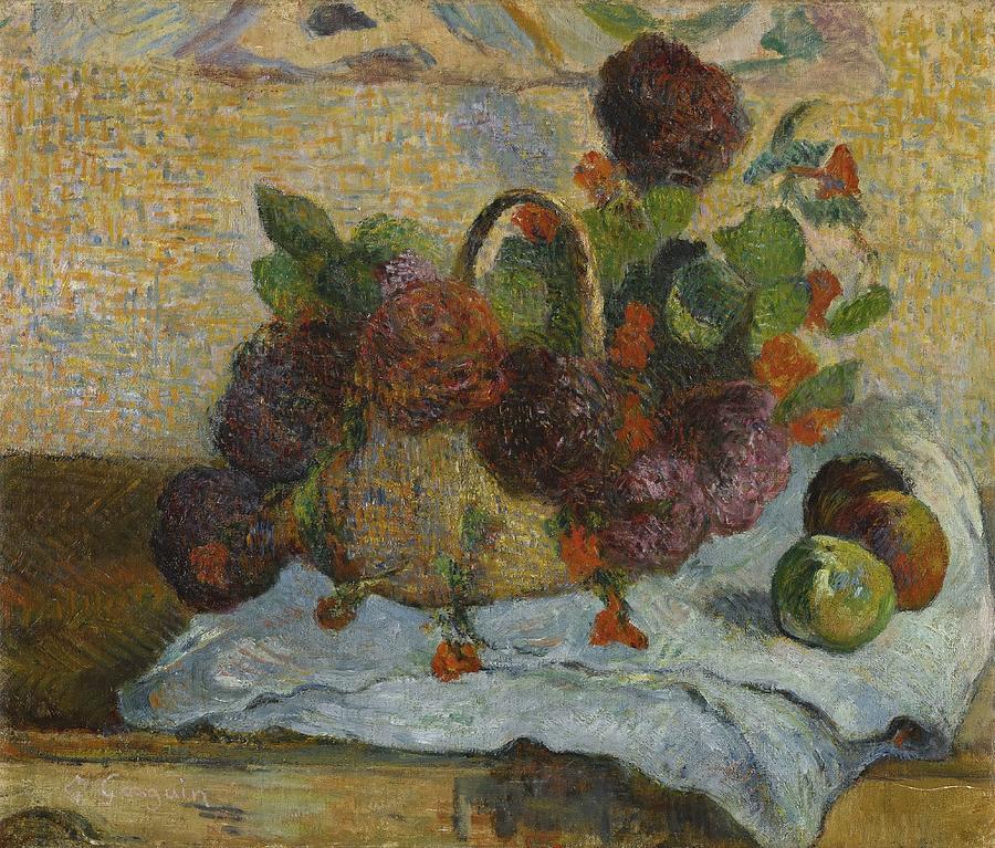 Fleurs Dans Un Panier  by Paul Gauguin