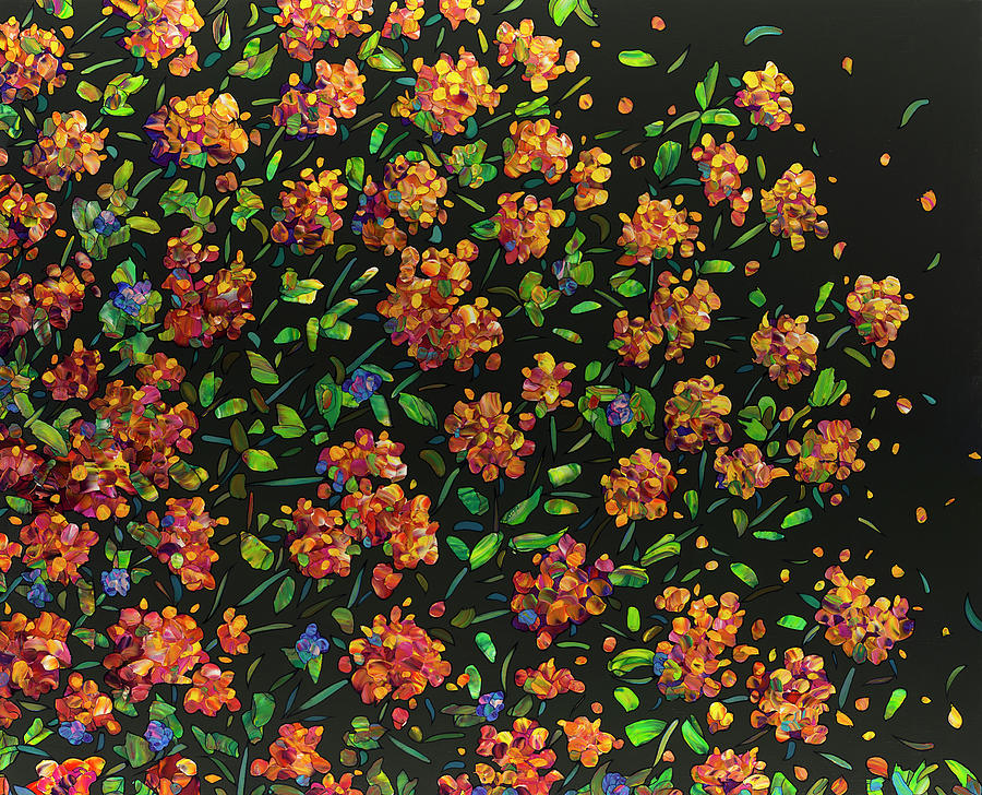 Floral Interpretation - Lantana by James W Johnson