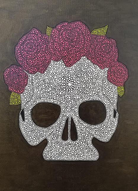 Floral Skull by KRISTIN MCDONNEL