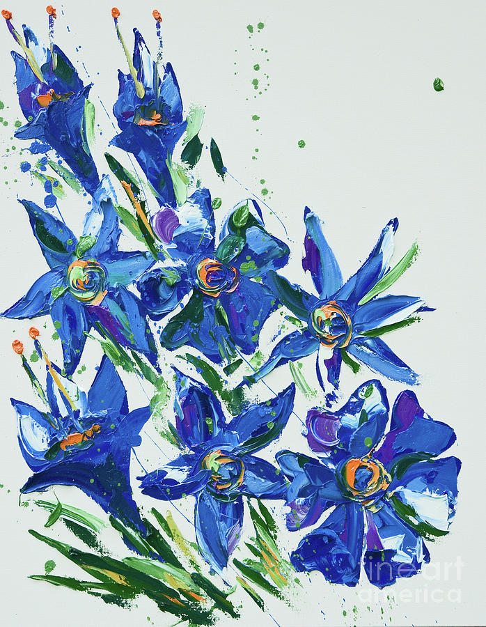 Floral Painting - Flower, 2007 by Penny Warden