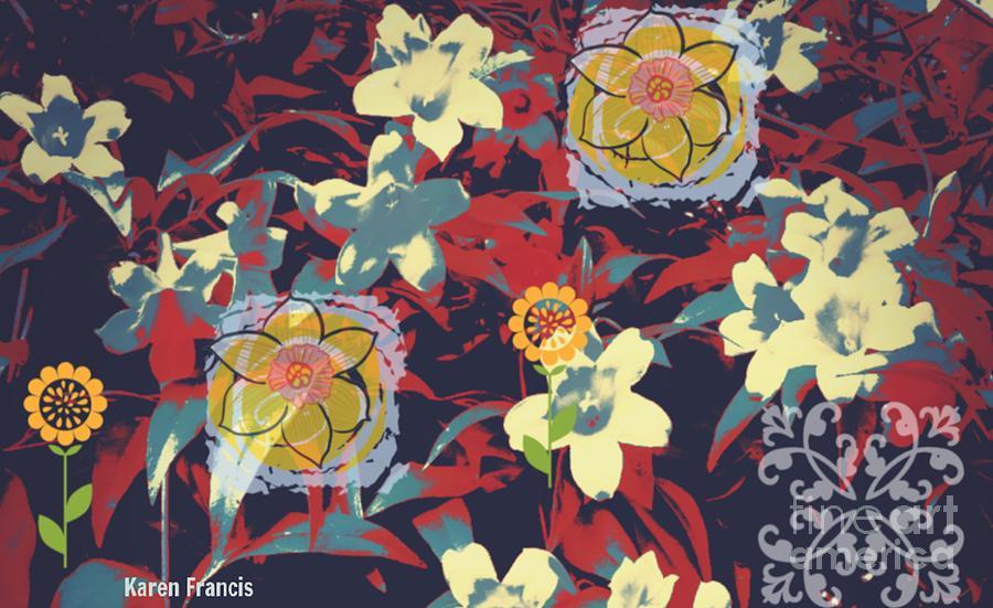 Flowers Digital Art - Flowers by Karen Francis