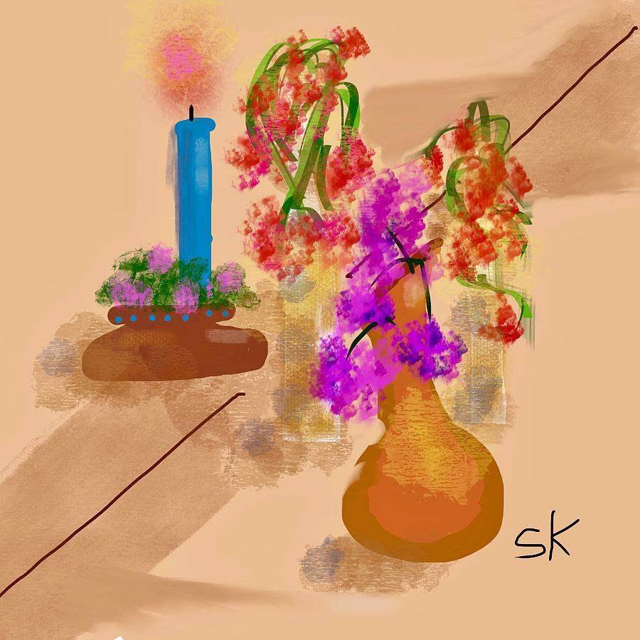 Flowers on the Table by Sherry Killam