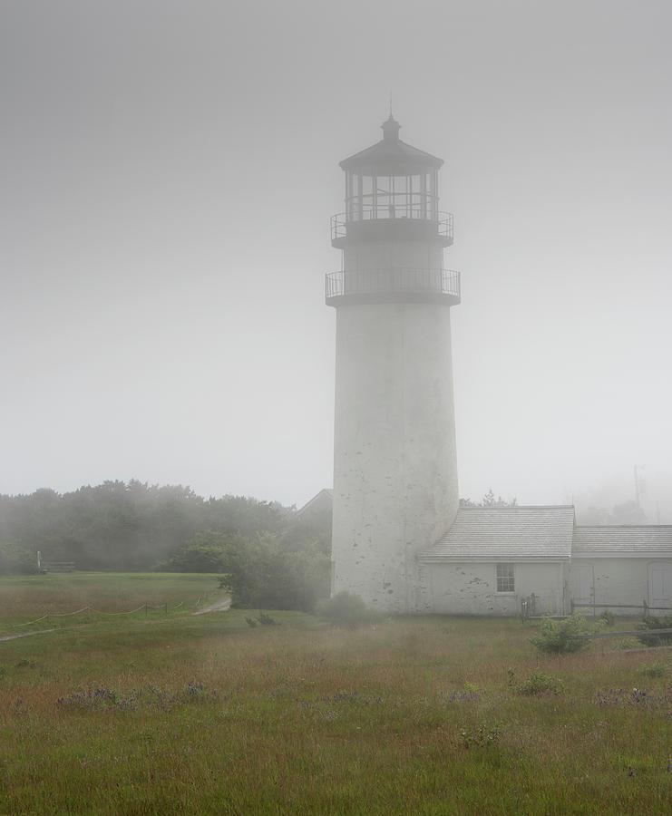 Foggy Photograph - Foggy Highland Light - Cape Cod by Brendan Reals
