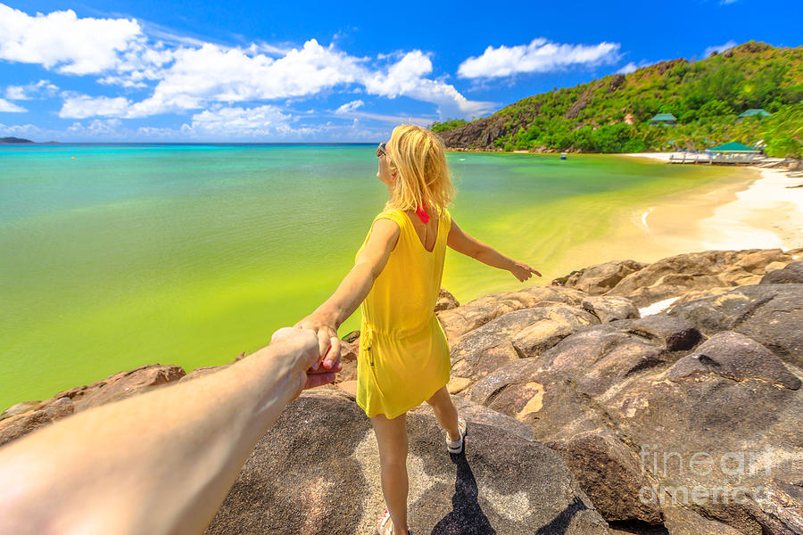 Follow me at Seychelles by Benny Marty