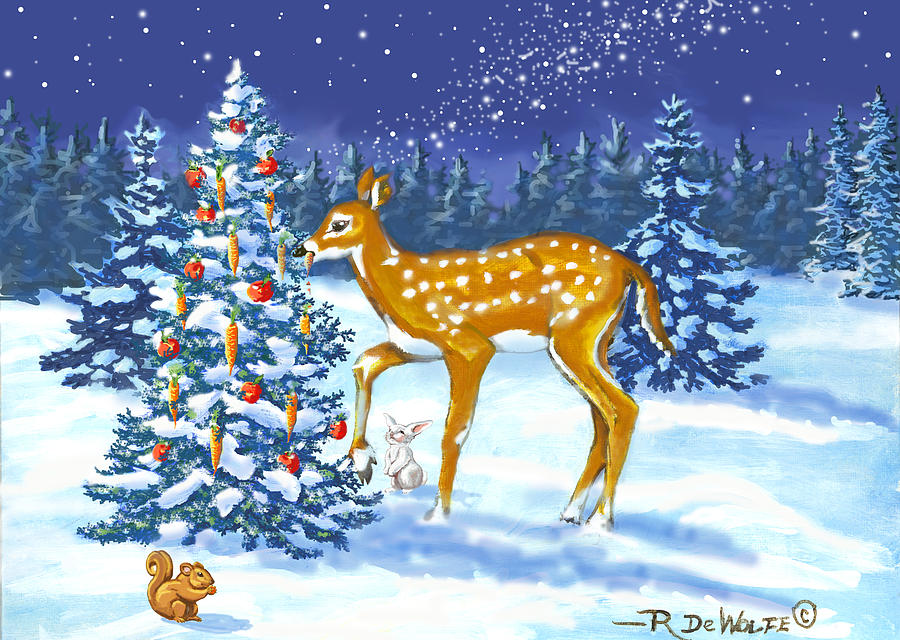 Forest Christmas Feast by Richard De Wolfe