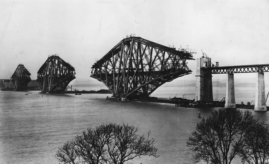 Forth Bridge Photograph by Hulton Archive