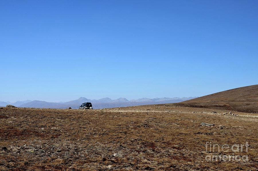 Four wheel drive jeep parked at Deosai Plains Skardu northern Pakistan by Imran Ahmed