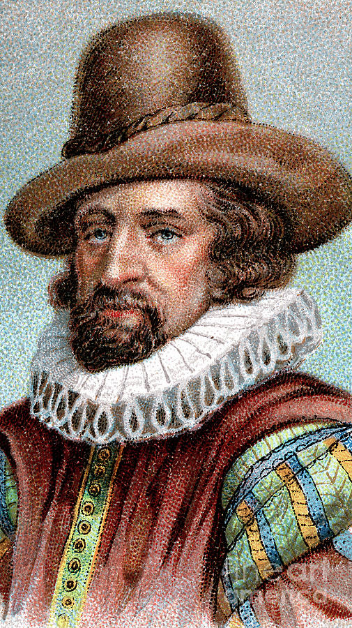 Francis Bacon, Viscount St Albans Drawing by Print Collector