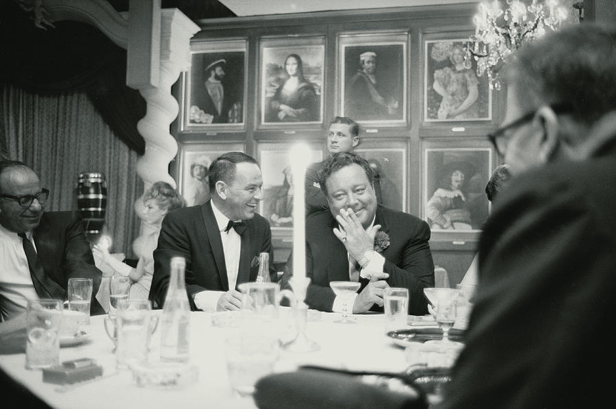 Florida Photograph - Frank Sinatra L Sharing A Laugh With by John Dominis