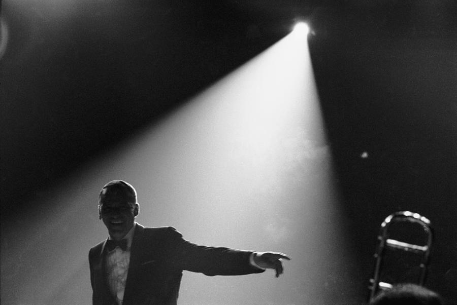 Frank Sinatra On Stage Photograph by John Dominis