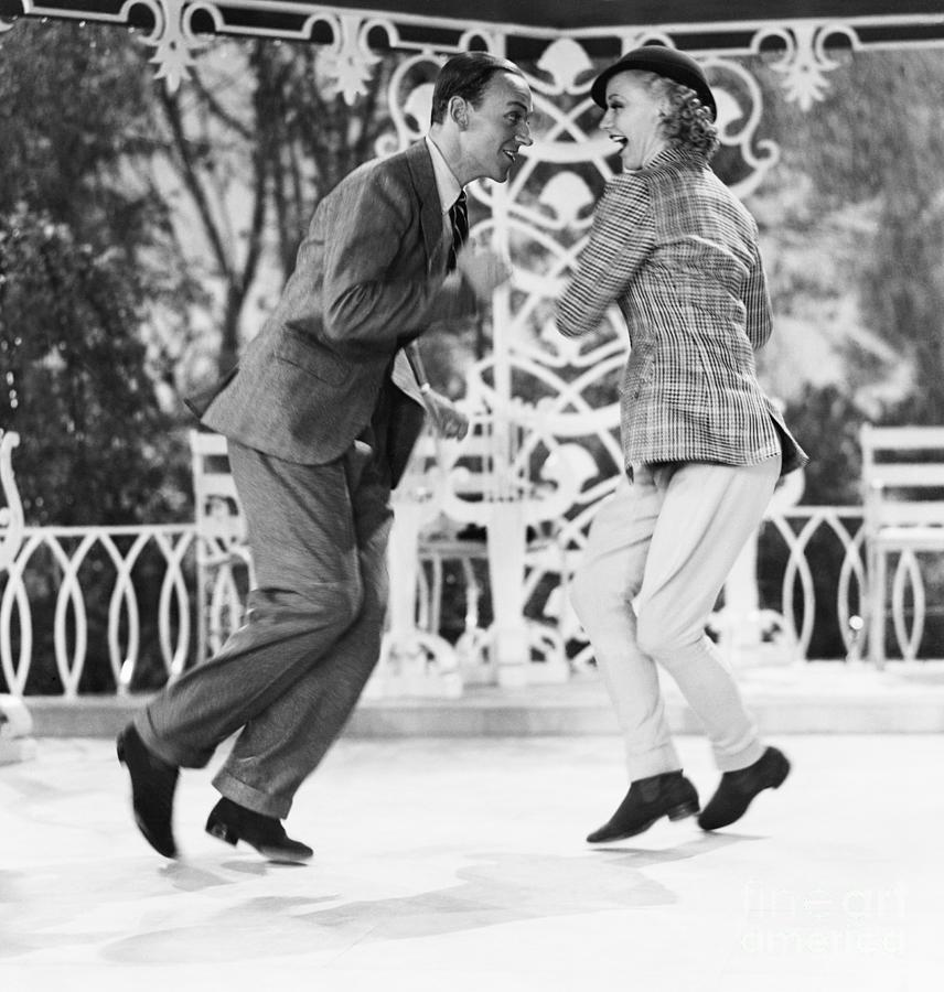 Fred Astaire And Ginger Rogers Dancing By Bettmann