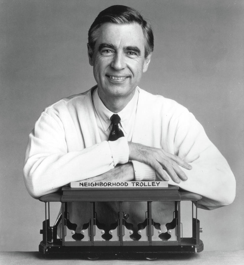 Fred Rogers The Host Of The Childrens Photograph by Getty Images