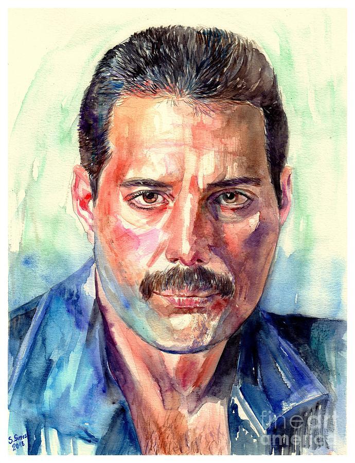 Freddie Painting - Freddie Mercury Painting by Suzann Sines