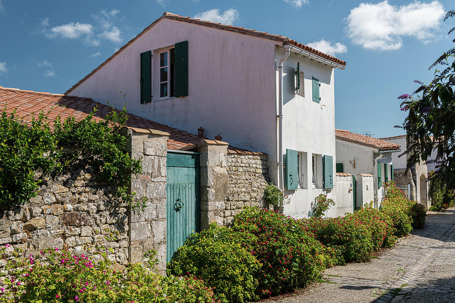 Old Photograph - french houses in the streets of Saint Martin de re by Stefan Rotter