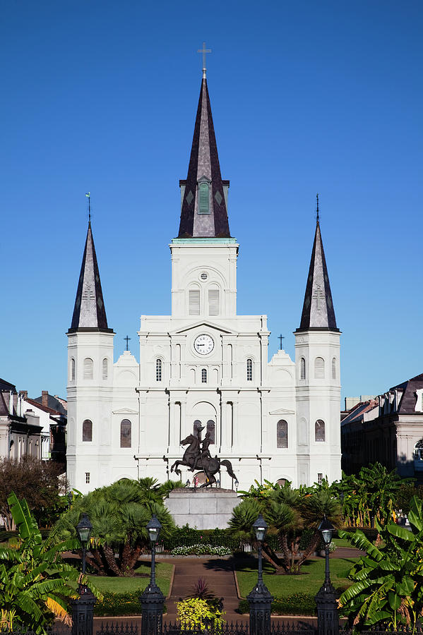 French Quarter, St. Louis Cathedral Photograph by Walter Bibikow