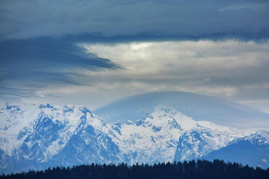 Fresh snow on the Kamnik Alps by Ian Middleton