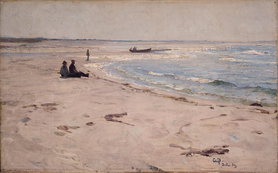 Eilif Peterssen Painting - From The Beach At Sele  by Eilif Peterssen