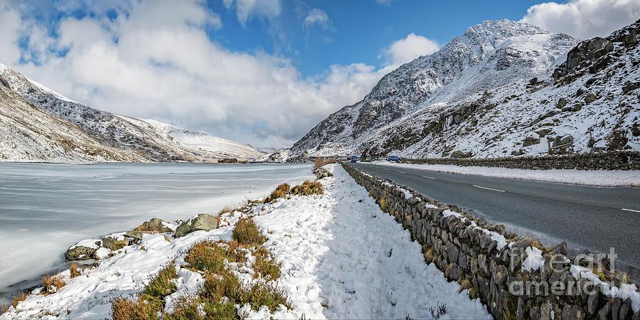 Frozen Lake Snowdonia by Adrian Evans