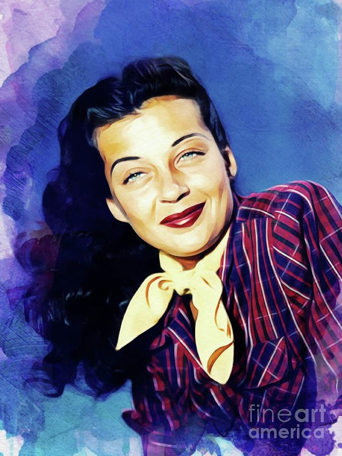 Gail Russell, Vintage Actress Painting