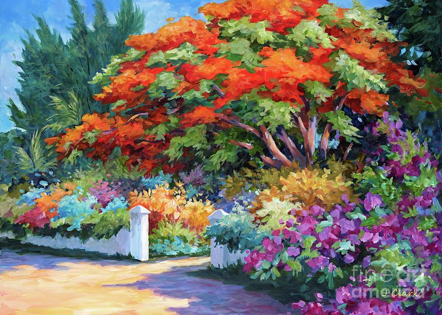Garden Painting - Garden Gate by John Clark