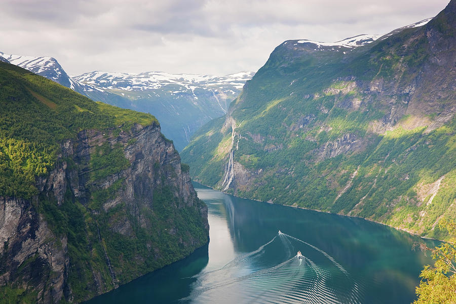 Geirangerfjord, Western Fjords, Norway Photograph by Peter Adams