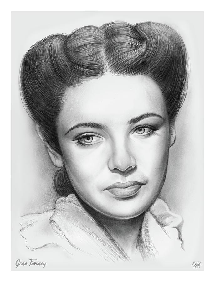 Gene Tierney Drawing