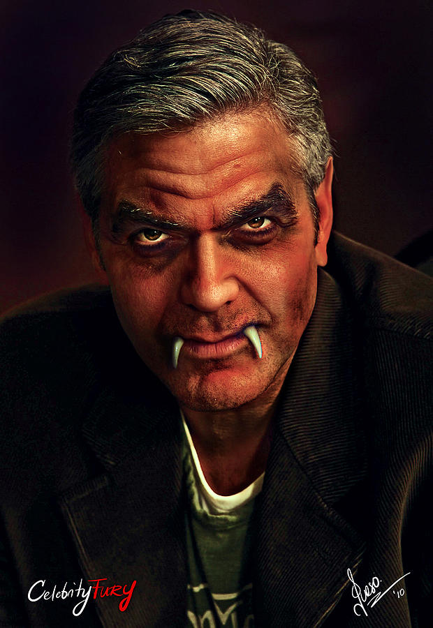 George Clooney Digital Art - George Clooney by Queso Espinosa